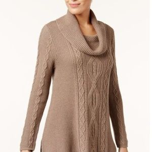 NWT Jeanne Pierre Taupe Heather Sweater Size Med